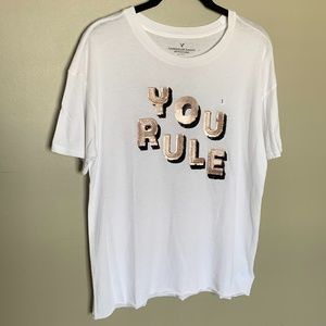 American Eagle Outfitters graphic sequin t-shirt S
